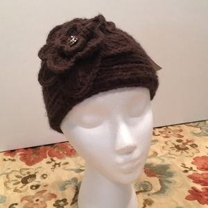 Knitted headband & neck warmer new with tags